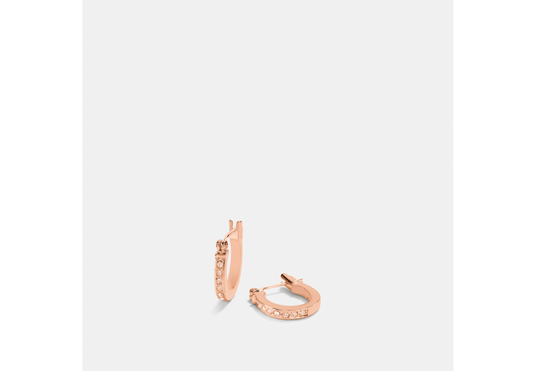 Pave Signature Huggie Earrings image number 0