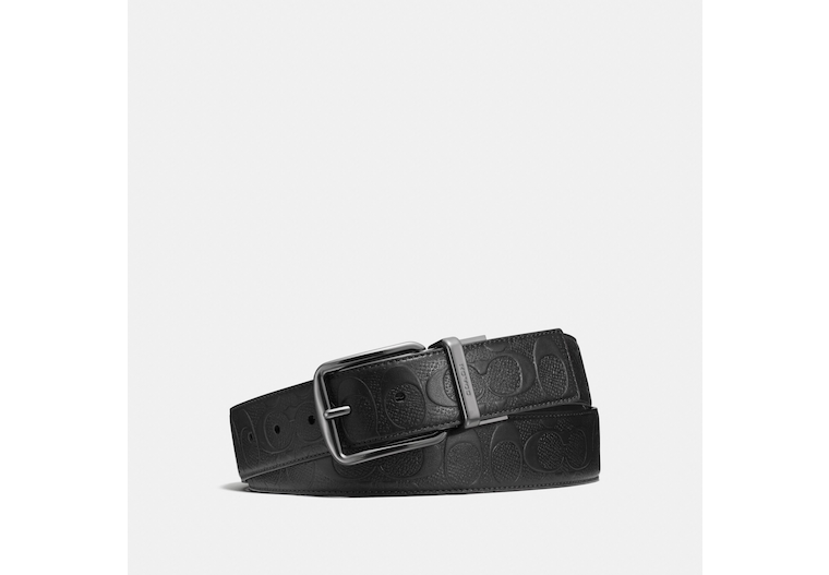 Wide Harness Cut To Size Reversible Belt In Signature Leather image number 0