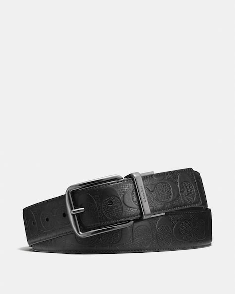 Wide Harness Cut To Size Reversible Belt In Signature Leather