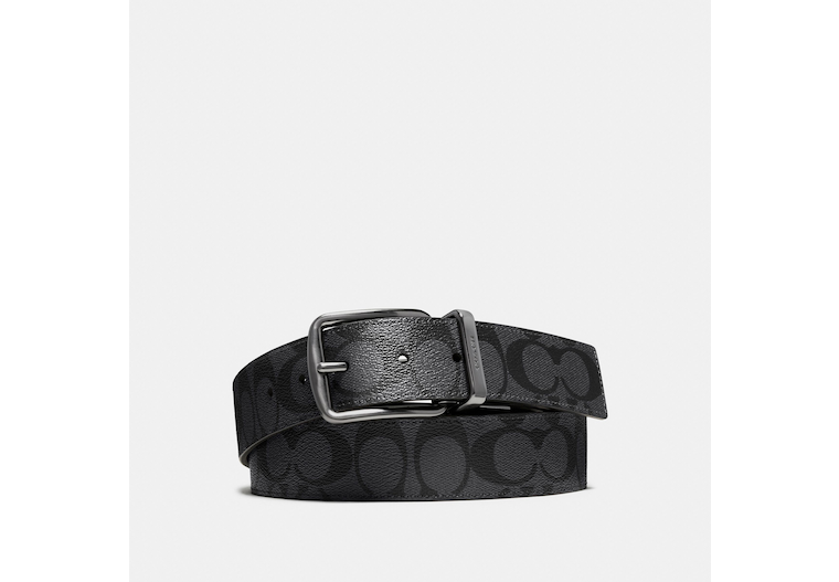 Wide Harness Cut To Size Reversible Belt In Signature Canvas image number 0