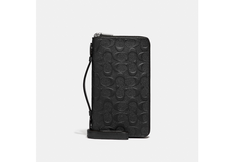 Double Zip Travel Organizer In Signature Leather image number 0