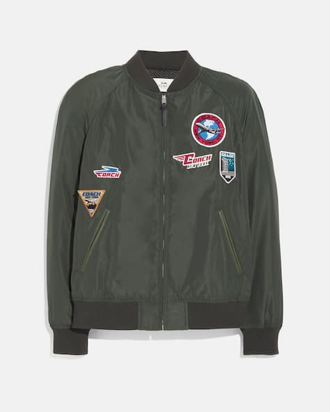 Lightweight Varsity Jacket With Patches