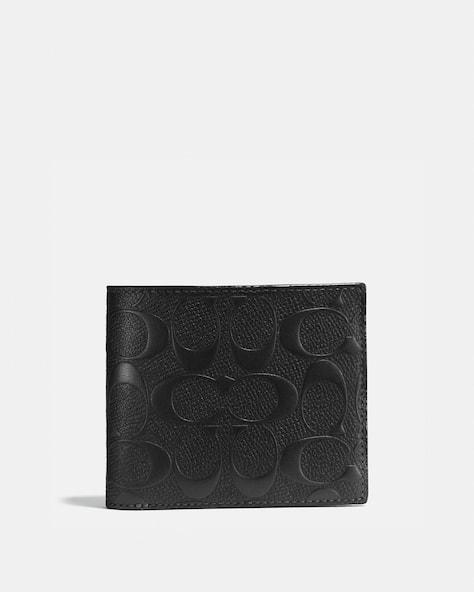 Portefeuille Compact Avec Fenêtre Pour Pièce D'Identité En Cuir Exclusif