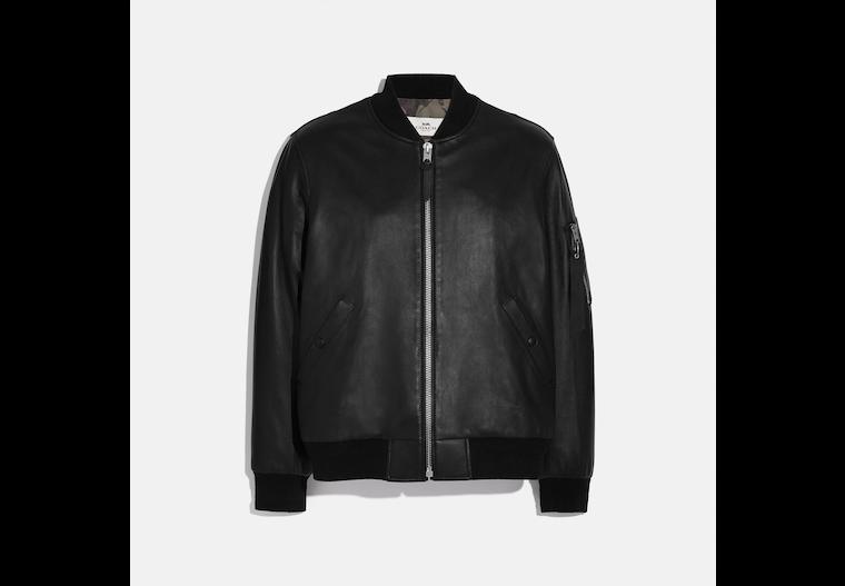 Leather Ma 1 Jacket image number 0