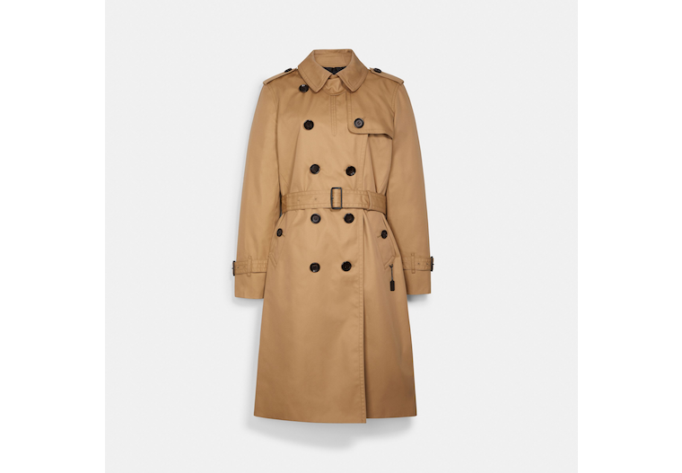 Coach: Long Trench $162.50 (75% off)