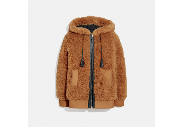 Long Faux Shearling Mix Hoodie image number 0