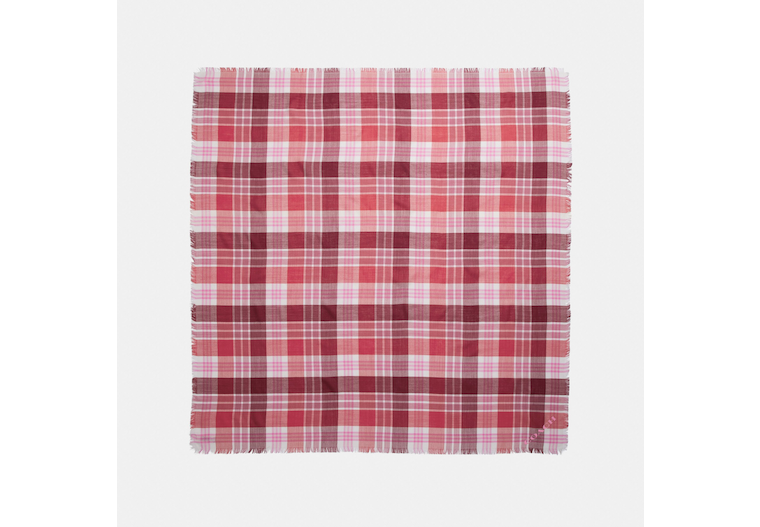 Plaid Print Oversized Square Scarf image number 0
