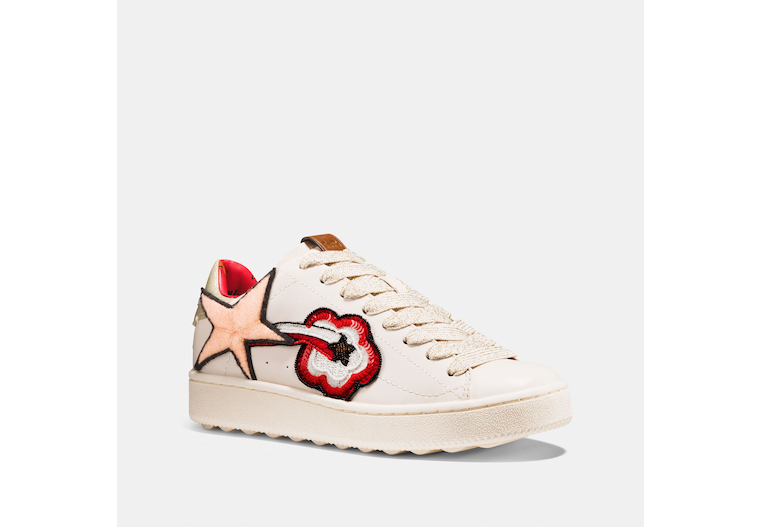 C101 Low Top Sneaker With Shooting Star Patches image number 0
