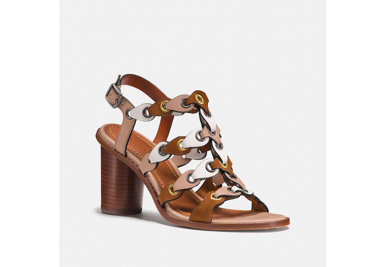 Mid Heel Sandal With Coach Link image number 0