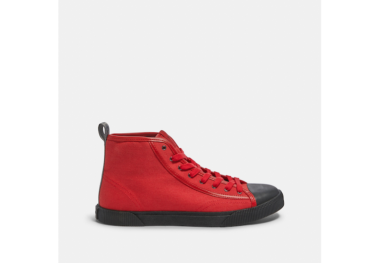 C207 High Top Sneaker With Coach Patch image number 0