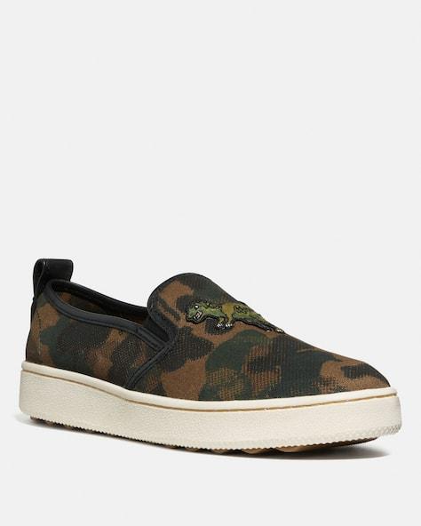 C115 Slip On Sneaker With Camo Print