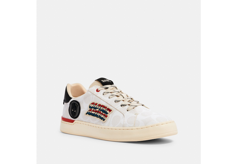 Coach │ Marvel Clip Low Top Sneaker With Patches image number 0