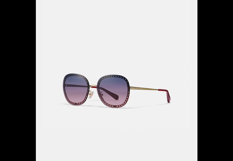 Oversized Signature Chain Square Sunglasses image number 0